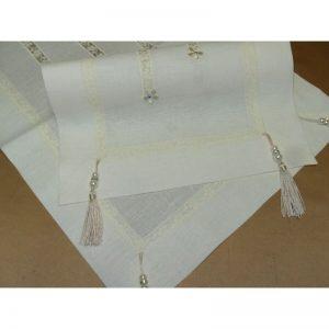 Centri in puro lino con tramezzo piccolo